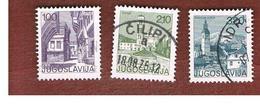 JUGOSLAVIA (YUGOSLAVIA)   - SG 1656.1665   -    1975  TOURISM  - USED - 1945-1992 République Fédérative Populaire De Yougoslavie