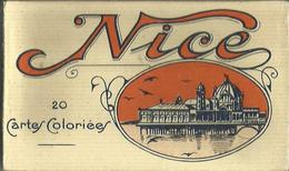 CARNET Complet De 20 Cartes Postales Anciennes De NICE - 20 Cartes Coloriées. - Sets And Collections