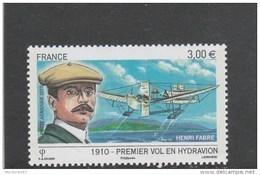 FRANCE POSTE AERIENNE PA 73 - PREMIER VOL EN HYDRAVION H FABRE - 2010 - NEUF** LUXE - - 1960-.... Neufs