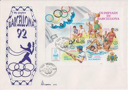 San Marino 1992 Olympic Games Barcelona Ms FDC (F7810) - FDC