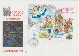 San Marino 1992 Olympic Games Barcelona Ms FDC (F7811) - FDC