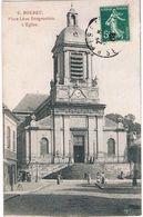 BOLBEC .76. église . Place Desgenetais .animée .1908 . - Other Municipalities