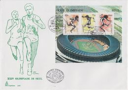 San Marino 1988 Olympic Sommergames Seoul  M/s FDC (F7812) - FDC