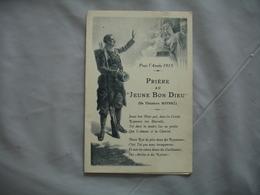 Guerre 14.18 Religion Gravure Priere Au Jeune Bon Dieu - Guerre 1914-18