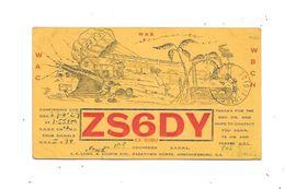 JOHANNESBURG : Carte QSL, Circulée En 1939 - Radio Amateur