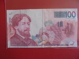 BELGIQUE 100 FRANCS 1995-2001 CIRCULER - 100 Francs