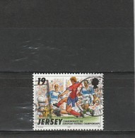 Jersey  Oblitéré  1996  N° 728  Championat Européen De Football - Jersey