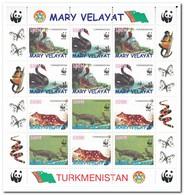 Mary Velayat, Postfris MNH, Birds, WWF, Animals - Turkmenistan
