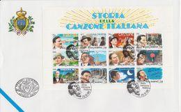 San Marino 1996 Canzone Italiana M/s FDC (F7813) - FDC