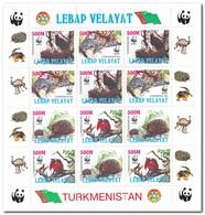 Lebap Velayat, Postfris MNH, Birds, WWF, Animals - Turkmenistan
