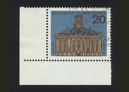 BRD 1964: Michel-Nr. 427, Hauptstädte Der Länder, Saarbrücken, Eckrand Links Unten, Gestempelt - BRD
