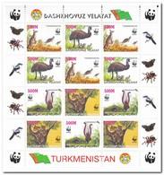 Dashkhovuz Velayat, Postfris MNH, Birds, WWF, Animals - Turkmenistan