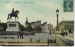 75 ( Paris ) - PARIS  - Le Pont Neuf - Statue D'henri IV ( Carte Toilée ) - Ponti