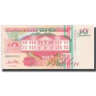 Billet, Surinam, 10 Gulden, 1996, 1996-12-01, KM:137a, NEUF - Surinam