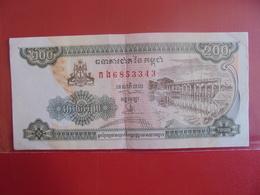 CAMBODGE 200 RIELS 1998 CIRCULER - Cambodia