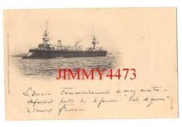 """CPA Datée De 1899 - Le """" SUCHET """" - Ecole De Guerre De L'Amiral Fournier - Cliché A. Bougault - Phot. A. Bergeret - Warships"""