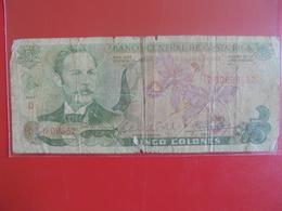 COSTA RICA 5 COLONES 1983 CIRCULER - Costa Rica