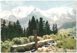 74 - Panorama Sur Le Massif Du Mont Blanc - éd. Iris N° 2531 (circ. 1962) - Chamonix-Mont-Blanc