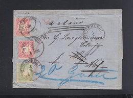 Bayern Faltbrief Nürnberg Nach Hof Retourmarke 1873 - Bavaria