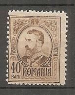 ROU -   Yv. N°  251  *  40b  Charles Ier Cote  1 Euro  BE   2 Scans - 1881-1918: Carol I