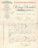 BOURLIER   Exploitation De Forets  SONCOURT Par VIGNORY  52              1911 - France