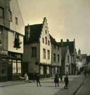 Belgique Leuven Louvain Rue De Bruxelles Ancienne Photo Stereo NPG 1900's - Fotos Estereoscópicas
