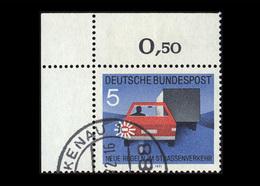 BRD 1971, Michel-Nr. 670, Neue Regeln Im Straßenverkehr, 5 Pf., Eckrand Oben Links, Gestempelt - BRD