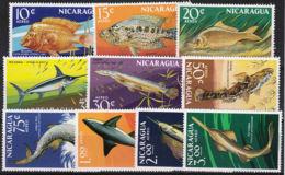 Nicaragua 635/44 ** - Fishes
