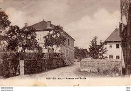 RUFFIEU   Avenue De L'Ecole   2 Scans - France