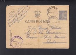 Romania Military Stationery Reg. 1 Care De Lupta 1943 - World War 2 Letters