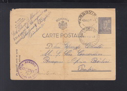 Romania Military Stationery Reg. 1 Care De Lupta 1943 - Cartas De La Segunda Guerra Mundial