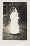 CARTE POSTALE PHOTO ORIGINALE ANCIENNE  GUERRE DE 14/18 SOUVENIR AFFECTUEUX DE Mme BORTERA INFIRMIERE DE LA CROIX ROUGE - Red Cross