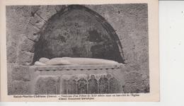 23 SAINT MARTIN CHATEAU  -  Tombeau D'un Pretre Du XIIIe Siècle Dans Un Bas-coté De L'Eglise  - - Autres Communes