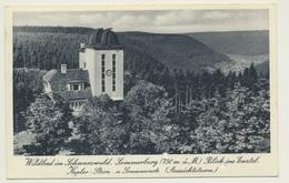 AK  Wildbad Sommerberg Kepler Sternwarte Sonnenwarte Fahrkarte - Allemagne