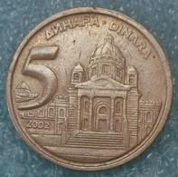 Yugoslavia 5 Dinara, 2002 -1865 - Yugoslavia