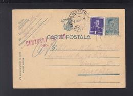 Romania Stationery Uprated To OPM 32 Censor Tg. Jiu 1942 - World War 2 Letters