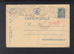 Romania Stationery 1941 Bucuresti To Carol I Constanta Censor - 2. Weltkrieg (Briefe)