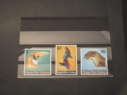 PAPUA - 1974 UCCELLI  3 VALORI - NUOVI(++) - Papua Nuova Guinea