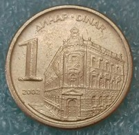 Yugoslavia 1 Dinar, 2002 -1886 - Yugoslavia