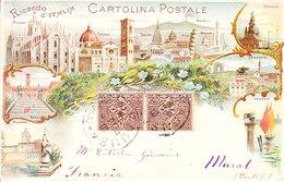 ITALIA - RICORDO D'ITALIA -  (non Comune) Leggi Testo, Animata, Viag. 1906 - 2019-1-04, 05 - Italia