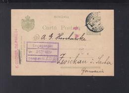 Romania Stationery 1920 Bucuresti To Germany - 1918-1948 Ferdinand, Charles II & Michael