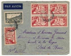 SENEGAL - Belle Enveloppe Affr. Composé Dont 90c Exposition Internationale De Paris 1937 X5 - Dakar Sucoursale 1937 - Sénégal (1887-1944)