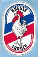 Autocollant Louhans (71) 14 Avenue Du 8 Mai 1945 Comité Interprofessionnel De La Volaille De Bresse 2scans Coq - Autres