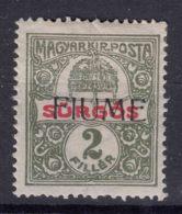 Fiume 1918 Newspaper Stamp Giornali Sassone#2 Michel#2 Mint Hinged - Fiume