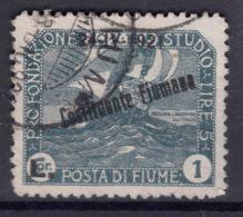 Fiume 1921 Fondazione Studio, Constituente Fiumana Sassone#171 Mi#138 Used - Fiume