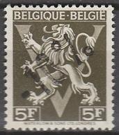 Belgie    .    OBP      .  724  I       .      **       .   Postfris    .  / .  Neuf Sans  Charniere - Belgique