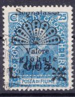 Fiume 1921 Segnatasse Porto Sassone#27 Used - Fiume