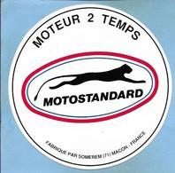 Autocollant Mâcon (71) Somerem Motostandard Moteur 2 Temps 2scans Guépard Cheetah - Vieux Papiers