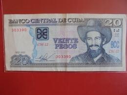 CUBA 20 PESOS 2012 CIRCULER - Kuba