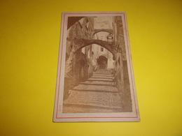 N/  PHOTO CDV  NICE VIEILLE RUE PAR  E DEGAND PHOTOGRAPHE - Old (before 1900)